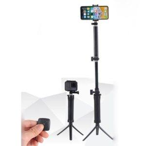 GRIP ARM Tripod - Bluetooth selfiestick til iphone/smartphone/GoPro