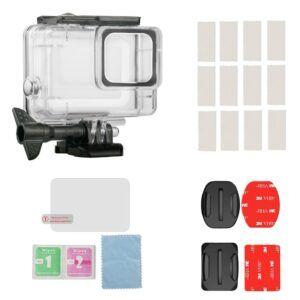 GoPro Hero 7 Silver/White- Undervandskit - Vandtæt hus 45m + Skærmbeskytter
