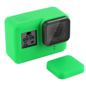 GoPro Hero 7/6/5 - PULUZ PU189 - Silikone beskyttelses hus/cover - Grøn