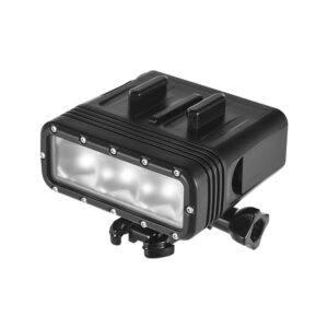 GoPro Hero 7/6/5 - Vandtæt LED lys -Dæmpbar - Vandtæt op til 40m - Sort