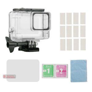 GoPro Hero 7/6/5 - Vandtæt hus IP70 inkl beskyttelsesglas - Transparent