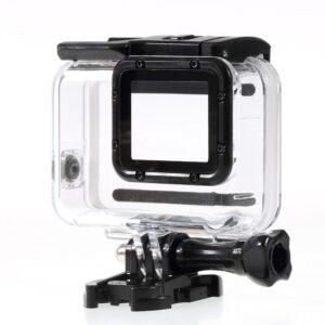 GoPro Hero 7/6/5 - Vandtæt hus/cover m/touchbar panel - Hvid/sølv