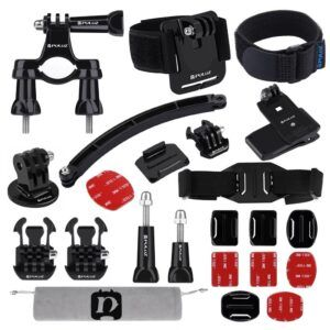 GoPro Hero 7/6/5/4/3/2/1 - PULUZ PKT19 - 24-i-1 mount sæt til Hjelm/cykel/atm mm