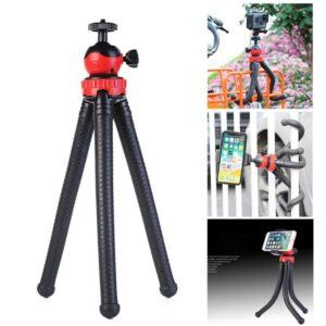 OCTOPUS Tripod - m/Bluetooth remote til iPhone / Smartphone / GoPro - Sort