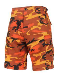 "Rothco BDU Shorts (Orange Camo, X-Large / 39""-43"")"