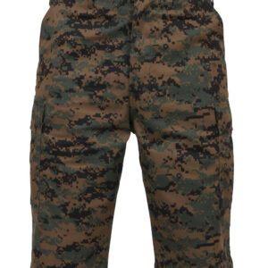 """Rothco BDU Shorts med Længde (Digital Woodland, Large / 35""""-43"""")"""