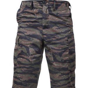 Rothco BDU Shorts med Længde (Tiger Stribet, L)