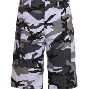 Rothco BDU Shorts med Længde (Urban Camo, L)