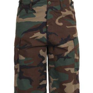 Rothco BDU Shorts med Længde (Woodland, L)