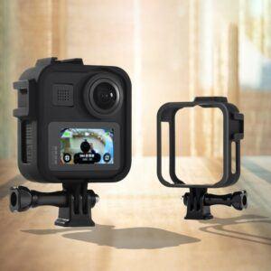 GoPro Max - Beskyttelses hus / cover - Inkl mount - Sort