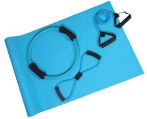 Aserve Yoga Tube Træningselastik Sæt (Lilla)