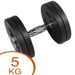 Eurosport Faste Gummi Skive Håndvægte 5kg (2 stk.)