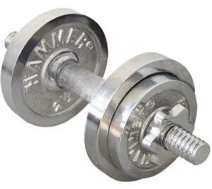Finnlo Dumbbell Set Chrome Justerbar Håndvægt 10kg