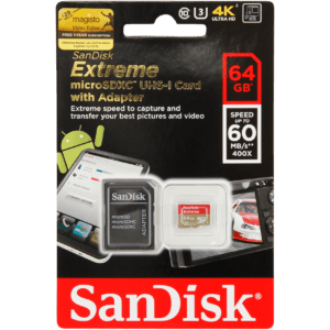 GoPro - Sandisk Microsdhc Extreme 64Gb - Sort
