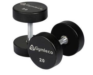Gymleco 836 Runde Gummi Håndvægte 10 kg (1stk)