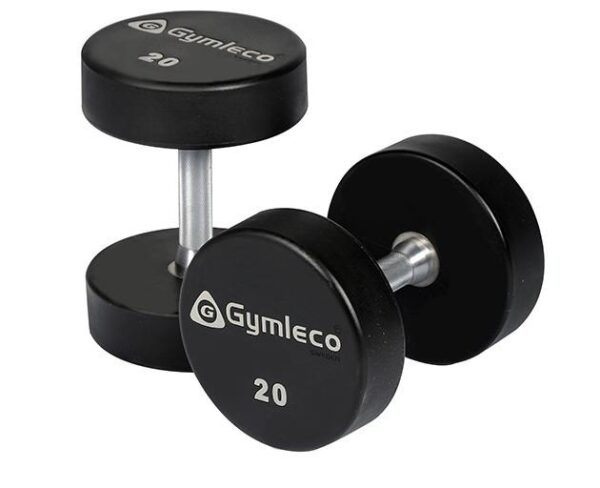 Gymleco 836 Runde Gummi Håndvægte 45 kg (1stk)