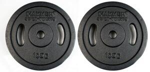 HAMMER Dumbbell Weight Discs 2 x 10 kg, Iron (Ø 30 mm)