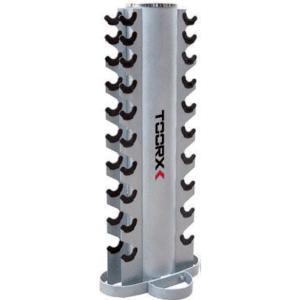 Toorx håndvægt stativ til 10 sæt.