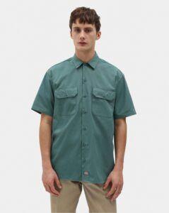 Dickies 1574 Original Short Sleeve Work Shirt (Lincoln Green, XL)