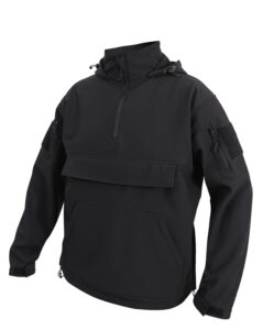 Rothco Concealed Carry Soft Shell Anorak (Sort, 2XL)