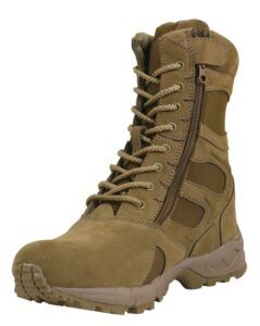 """Rothco Forced Entry 8"""" Deployment Boots With Side Zipper (Coyote Brun, 43 EU / 10 US)"""