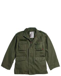 Rothco Vintage M-65 Field Jakke (Oliven, L)