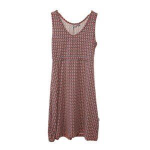 Tierra Womens Sandstone Prism Dress, S, LAVA RED