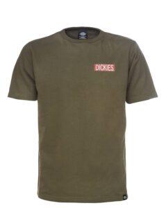 Dickies Clarkedale Short Sleeve Sweatshirt (Mørk Oliven, M)