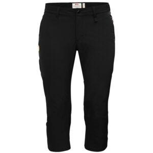 Fjällräven Womens Abisko Capri Trousers, 34, BLACK/550