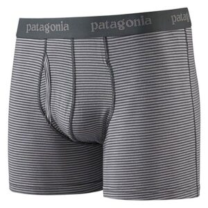 """Patagonia Ms Essential Boxer Briefs 3"""", S, FORGE GREY"""