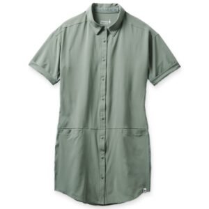 Smartwool Ws Merino Sport Shirt Dress, S, SAGE