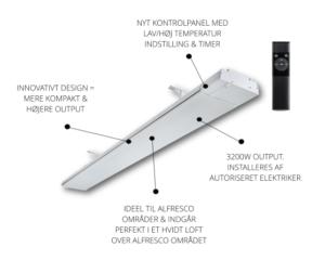 HEATSTRIP® Elegance 3200 + remote