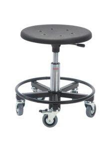 Global Montørstol Sigma 400RS taburet med stålbase og fod