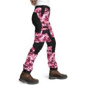 Is not enough Ws Medea Trekking Pants, S, FUCHSIA PINK CAMOUFLAGE