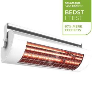Solamagic el-terrassevarmer 1400ECO+ pro i hvid uden afbryder
