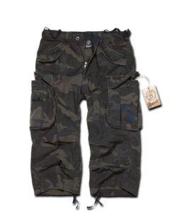 Brandit Industry Vintage 3/4 Pants (Black Camo, M)