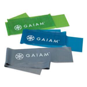 Gaiam Træningselastik Sæt (3 stk)
