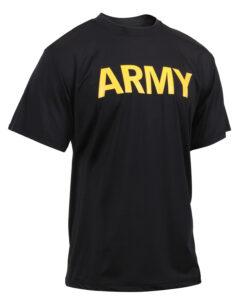 Rothco Army PT Trænings T-shirt (Sort, L)