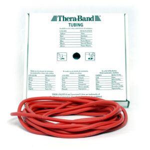 Thera-Band Tubing Level 2 Medium Træningselastik Rød 7,5m