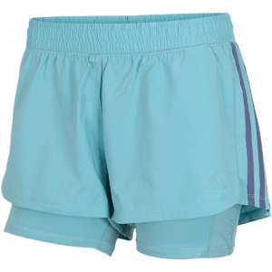 adidas - Pacer 3-Stripes Woven Two-in-One Shorts - Blå - Dame