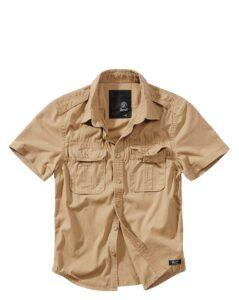 Brandit Short Sleeve Vintage Shirt (Camel, 2XL)