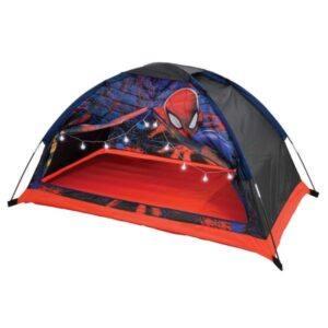 Spiderman Drømme Børnetelt med luftmadras og lys